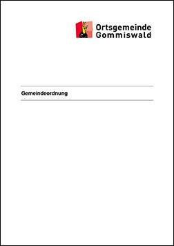 Ortsgemeinde Gommiswald: Gemeindeverordnung
